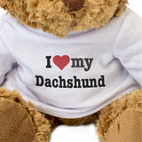 I Love My Dachshund - Teddy Bear