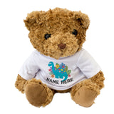 Teddy Bear Personalised Name - Dinosaur Design