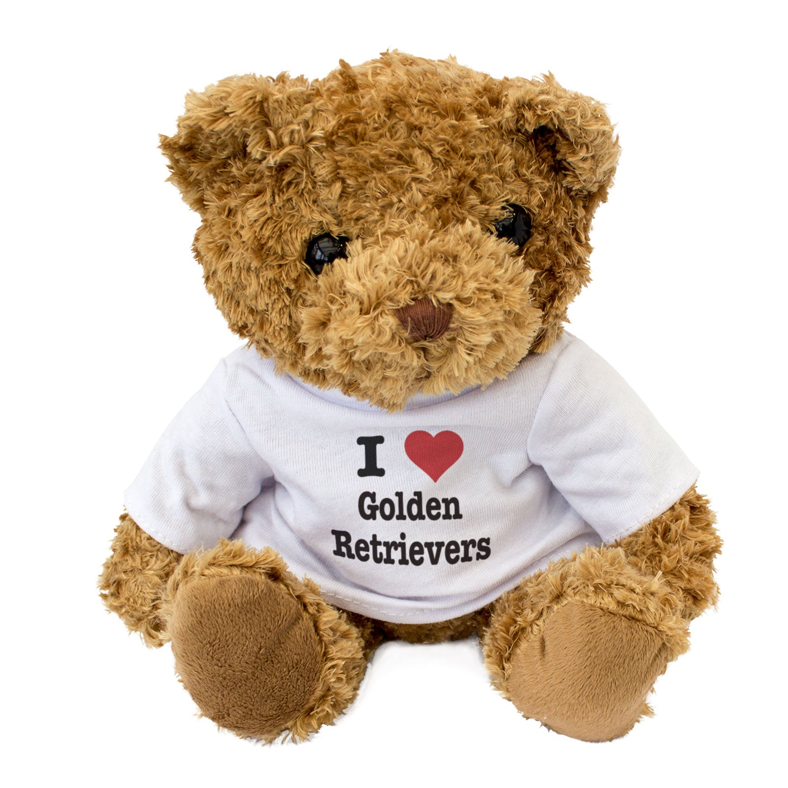 I Love Golden Retrievers - Teddy Bear