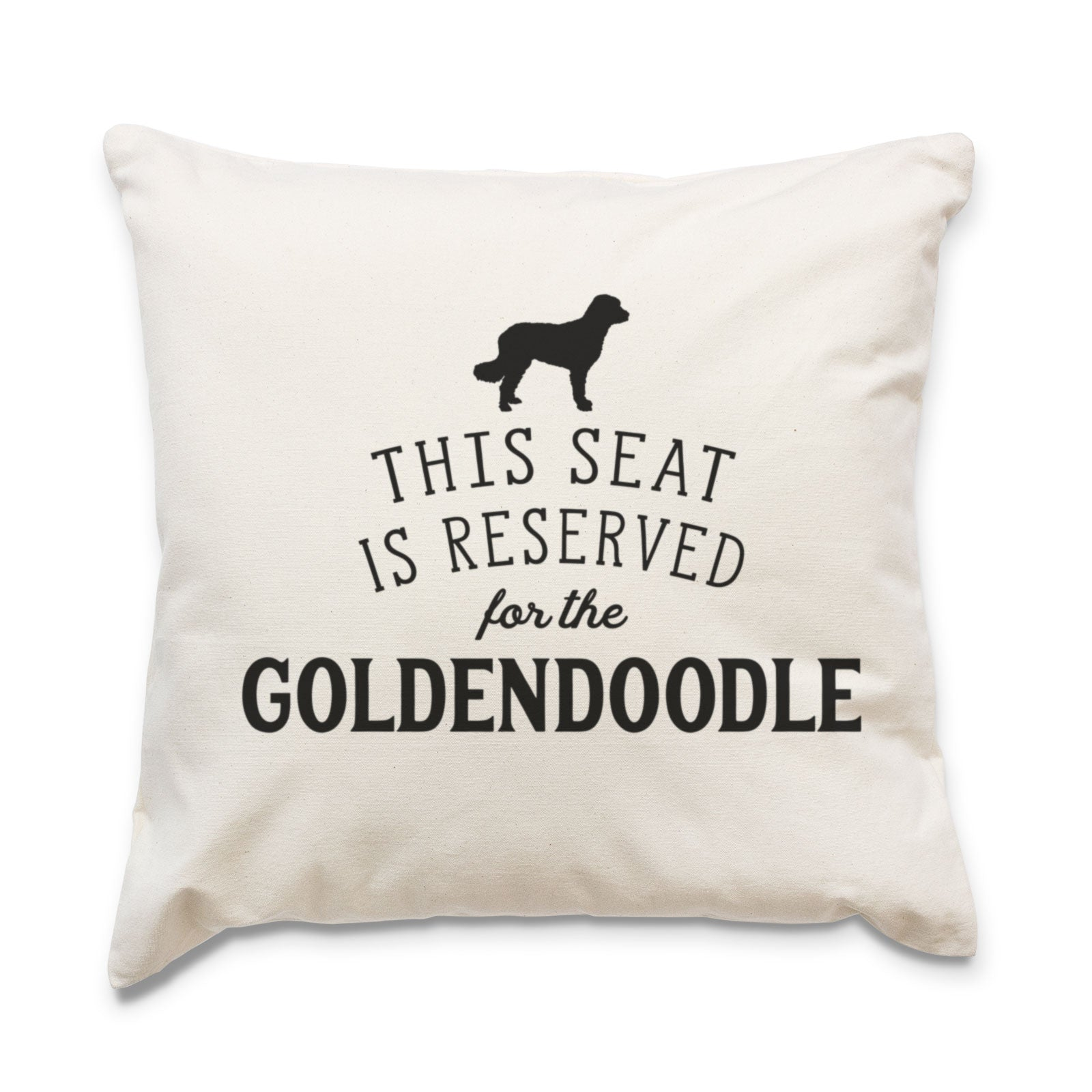 Reserved for the Goldendoodle Cushion Cover