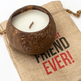 Greatest Friend Ever - Toasted Coconut Bowl Candle – Soy Wax - Gift Present