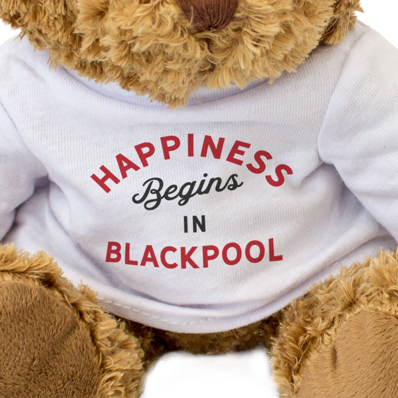 Personalised Teddy Bear Happiness Begins In...