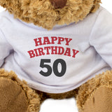 Happy Birthday Age 50 Teddy Bear