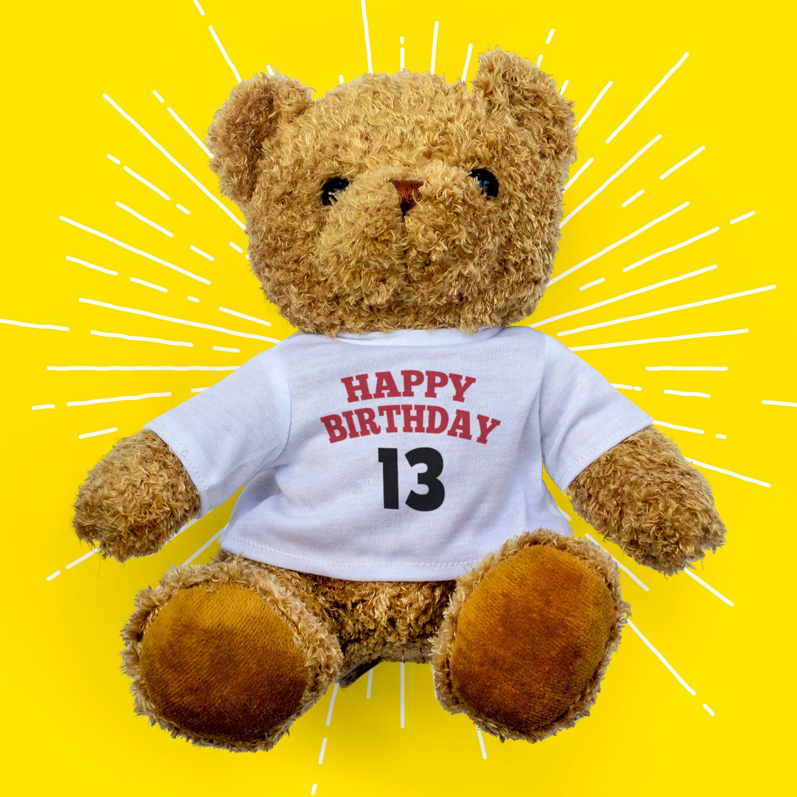 Happy Birthday Bear Custom Age