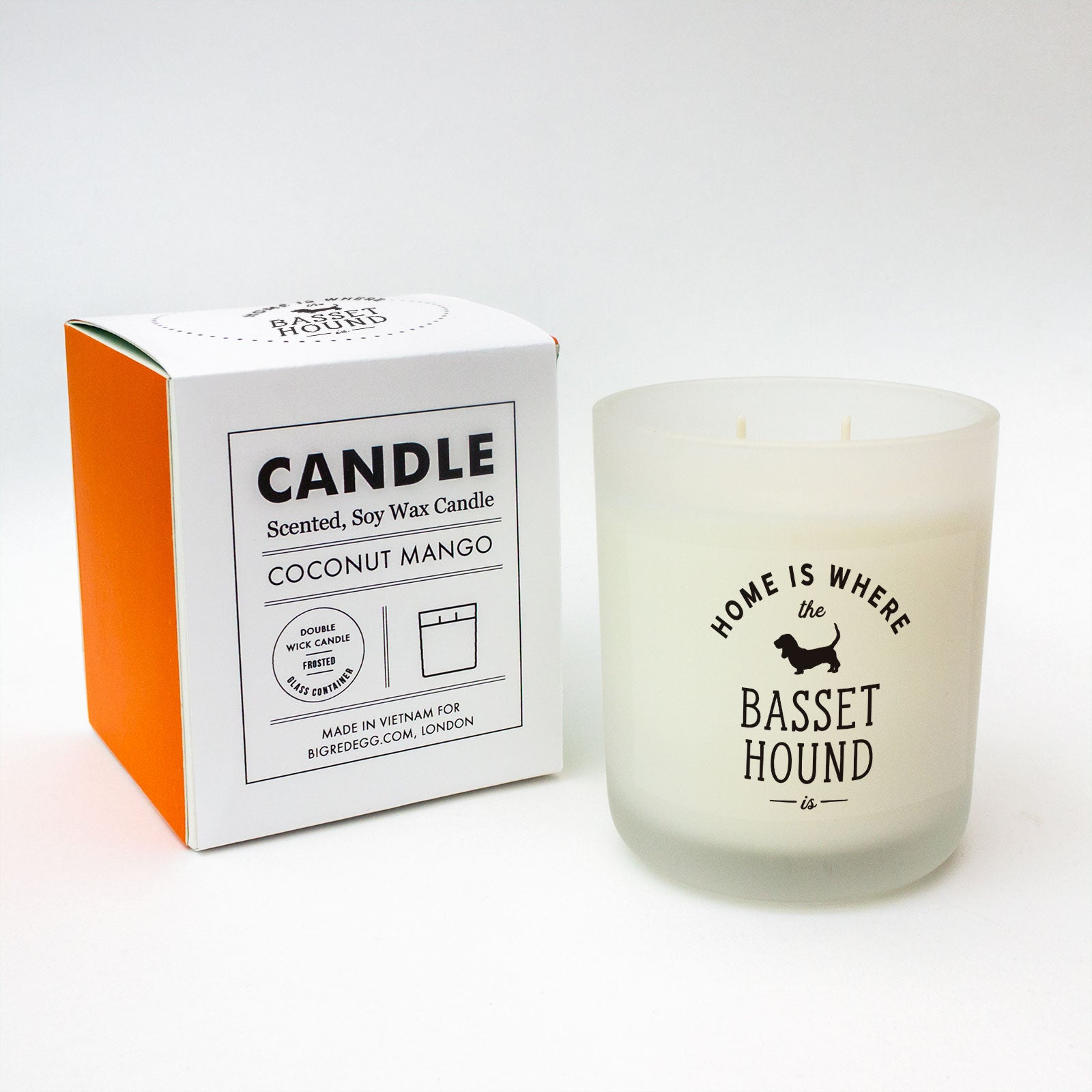 Home Is Where The Basset Hound Is Scented Candle