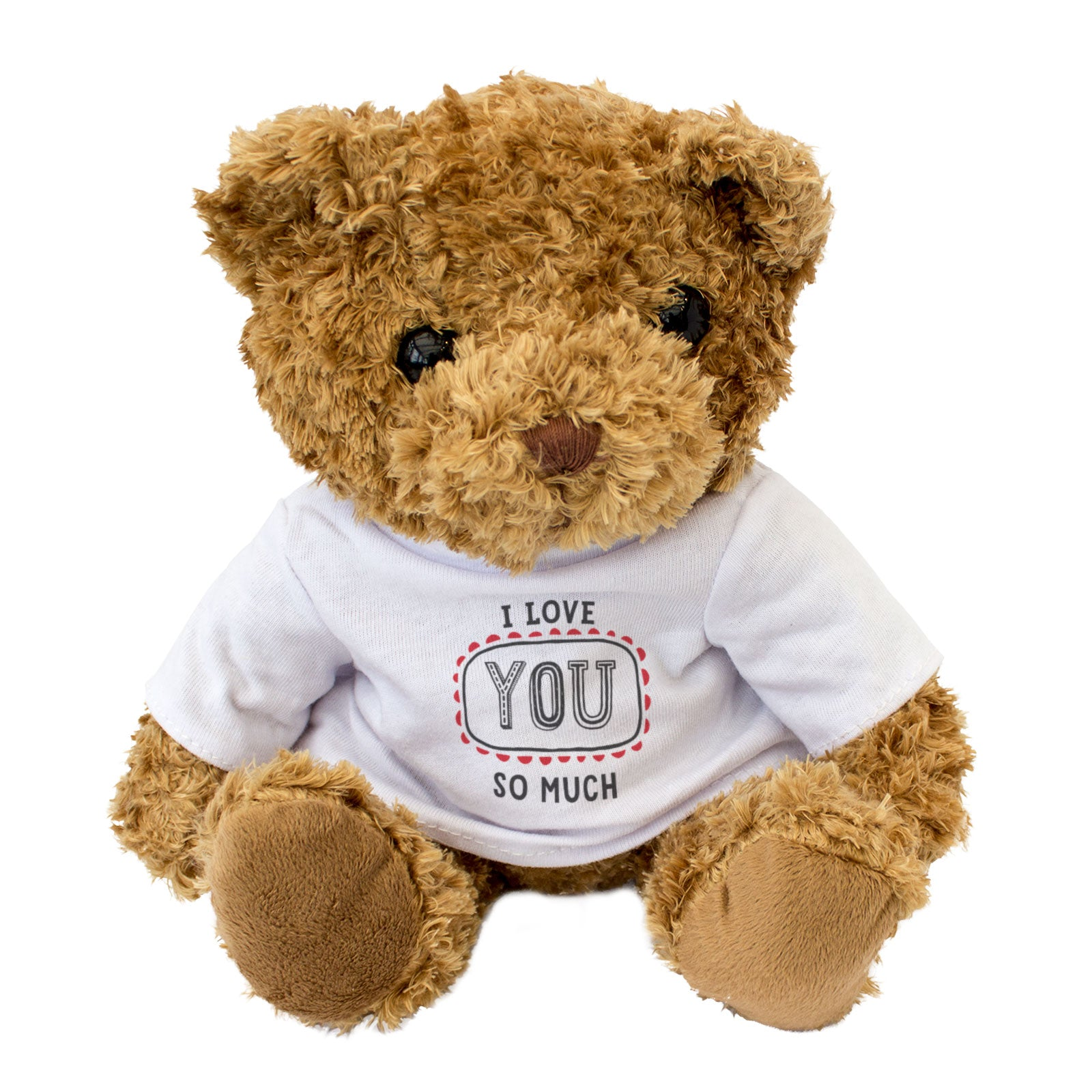 I Love You So Much Teddy Bear - Hand Lettered Design