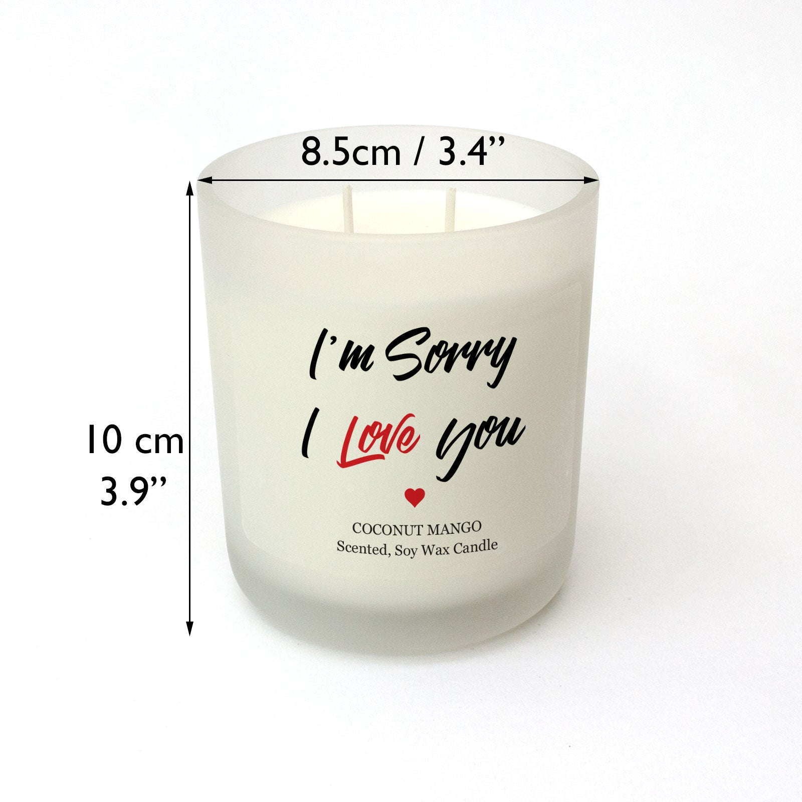 I'm Sorry, I Love You Scented Candle Apology Gift