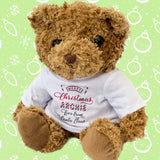 Christmas Teddy Bear Personalised Name Love From Santa
