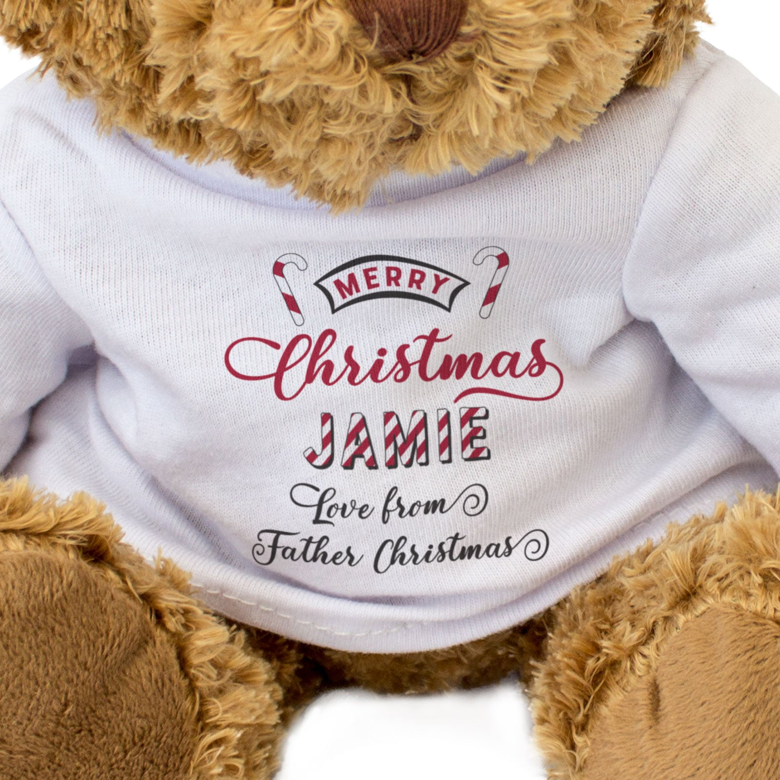 Christmas Teddy Bear Personalised Name Love From Father Christmas