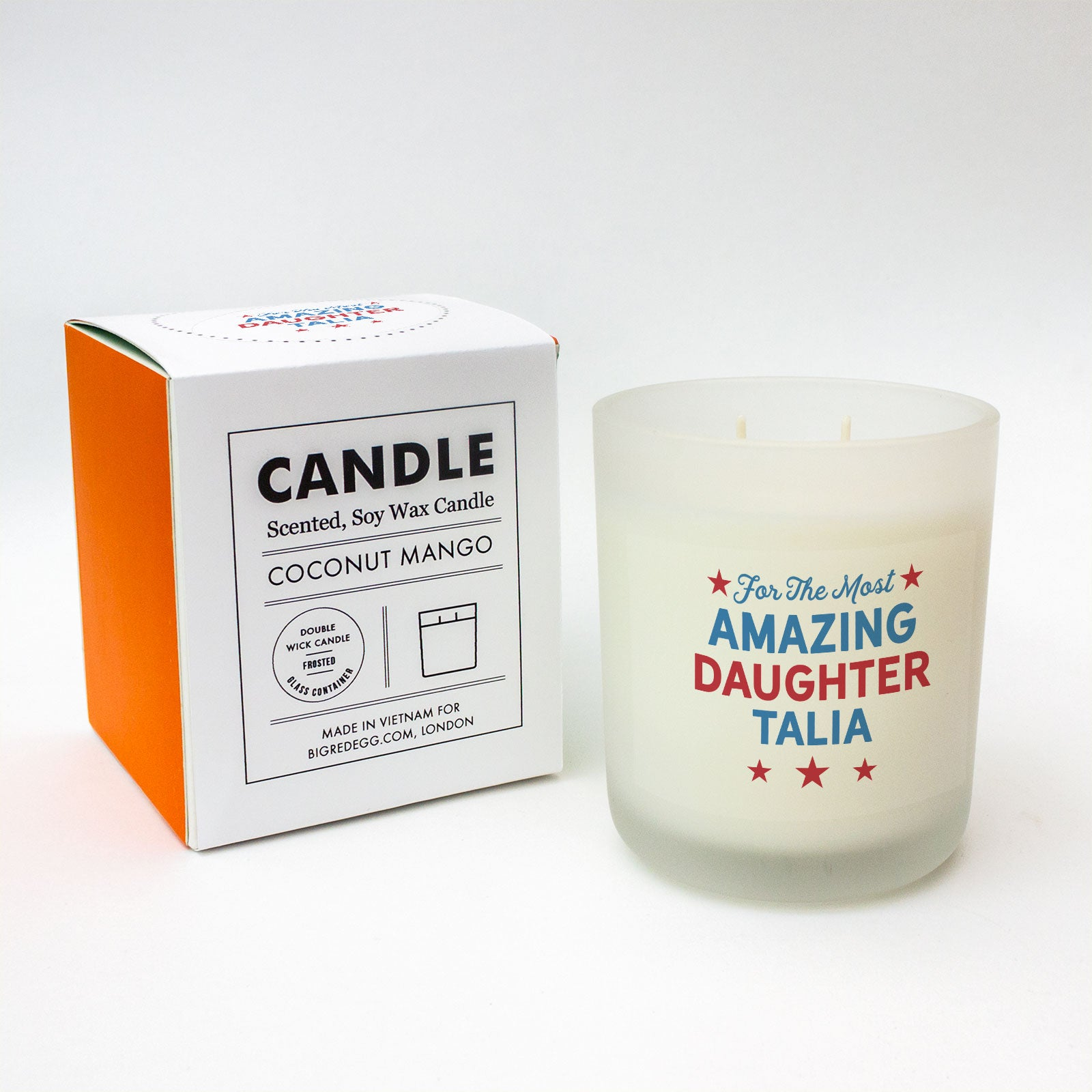 For The Most Amazing Custom Text Candle