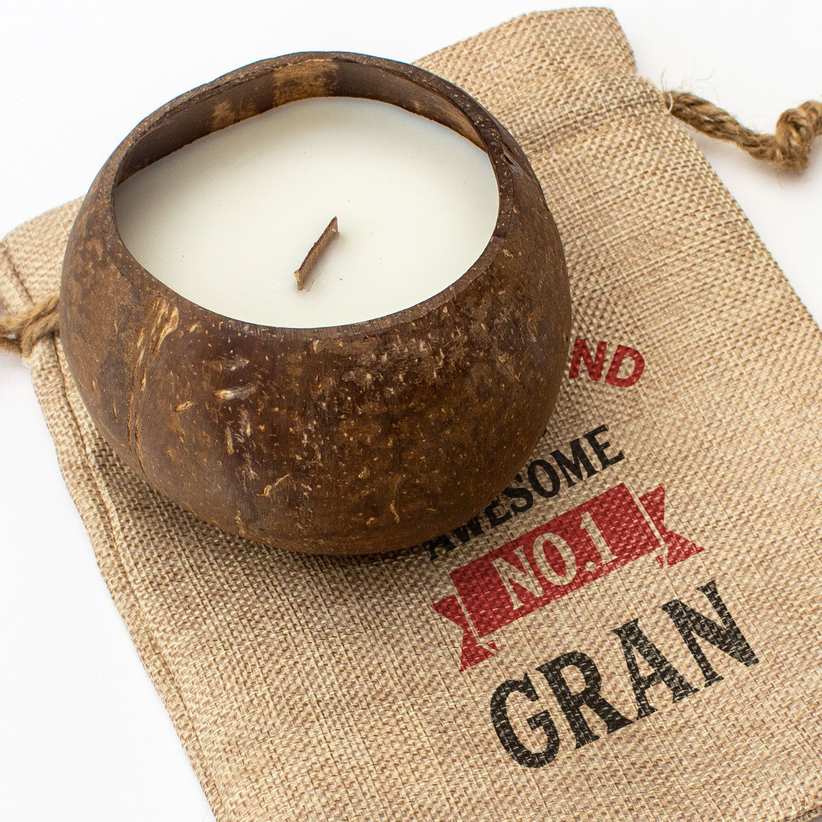 No.1 GRAN - Toasted Coconut Bowl Candle – Soy Wax - Gift Present