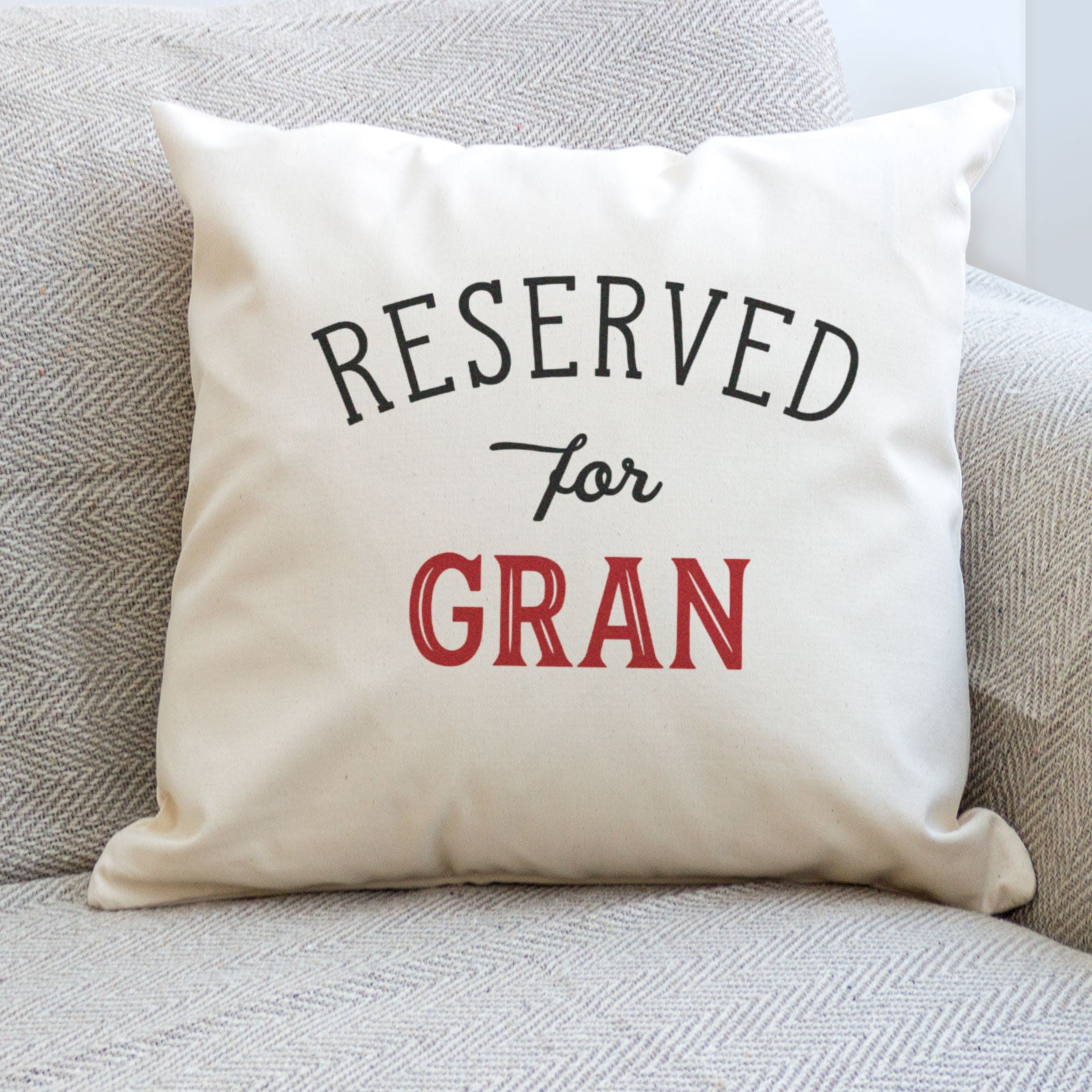 Reserved for Gran Cushion Cover