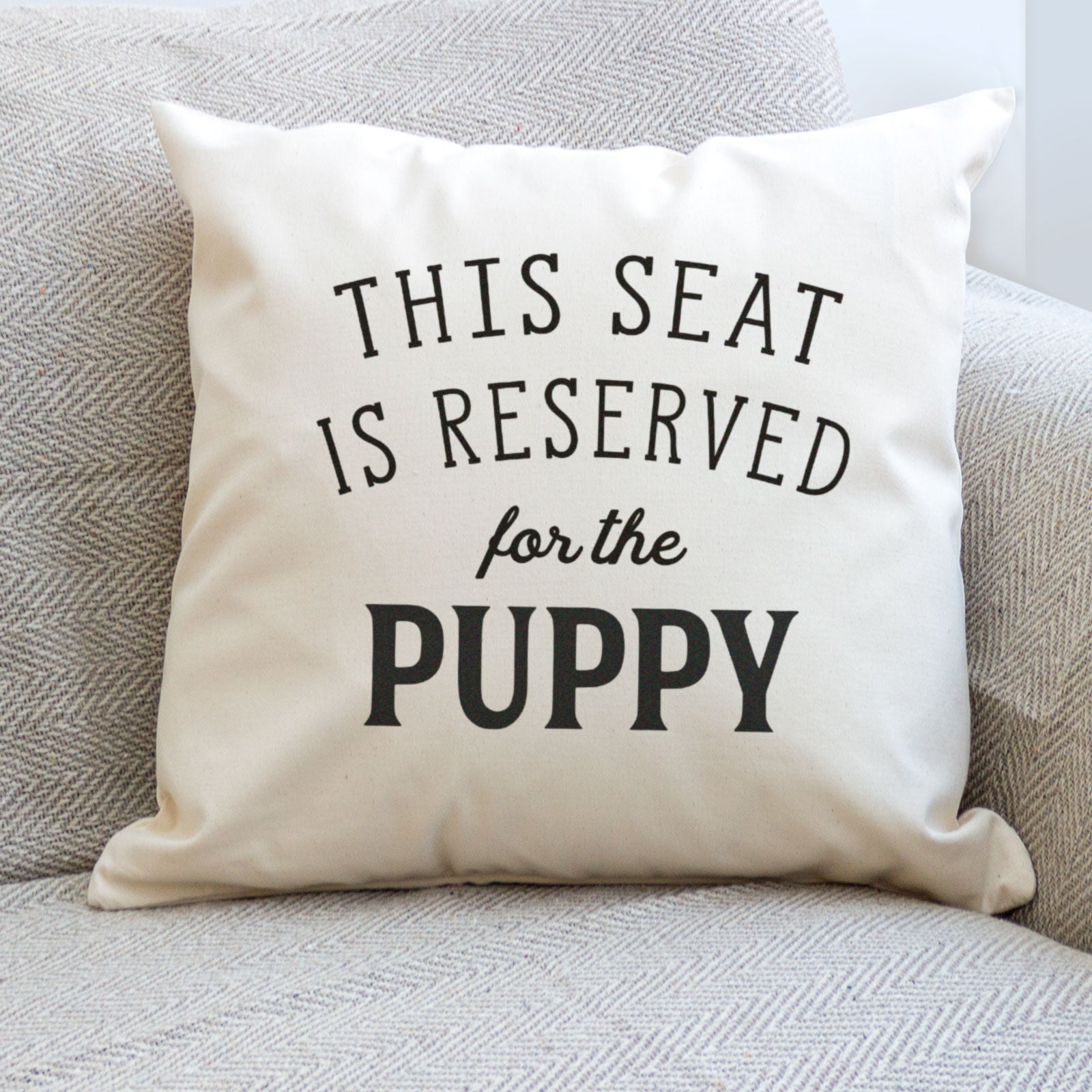 Reserved for the Puppy Cushion Cover