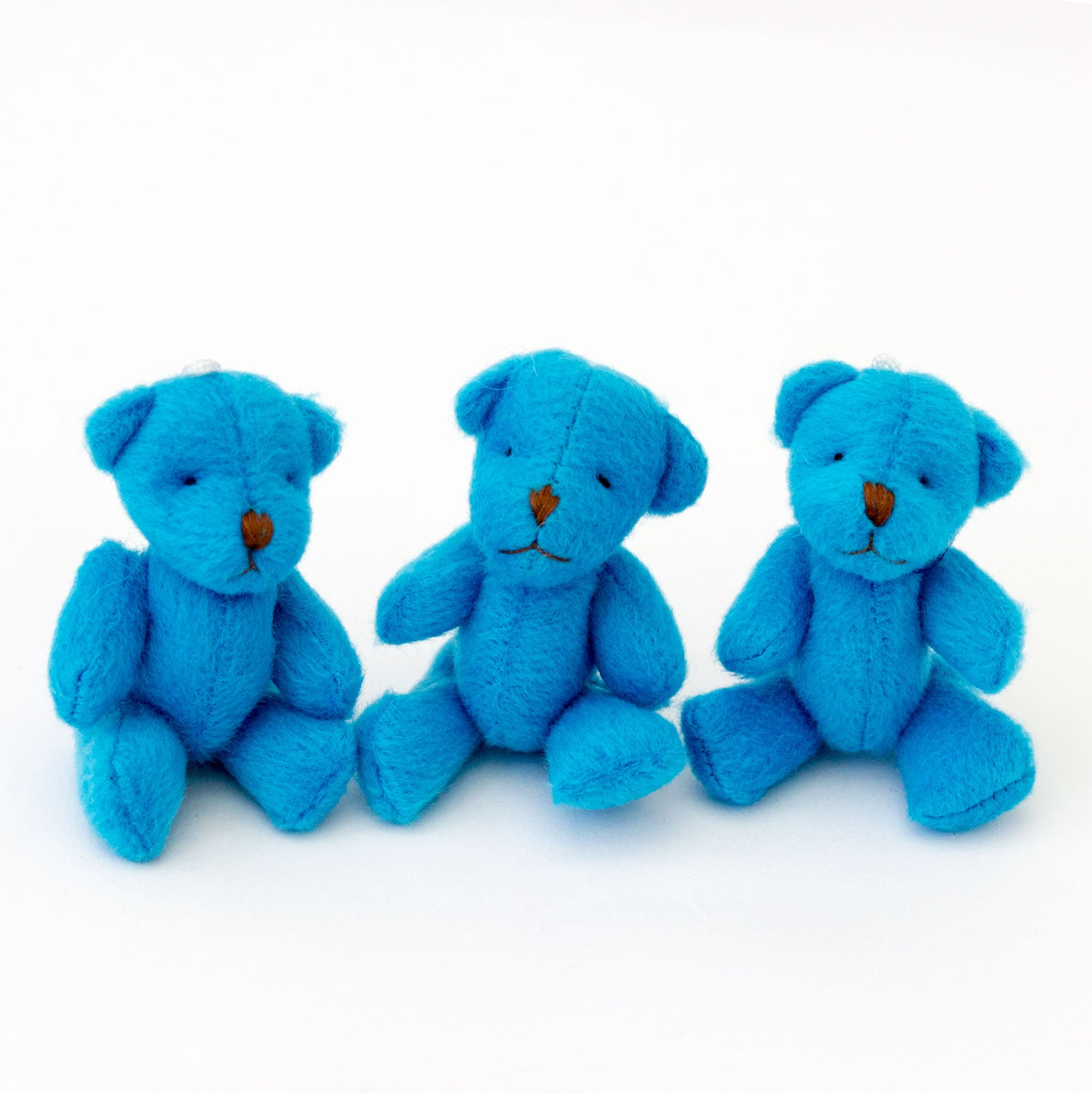 Small BLUE Teddy Bears X 30 - Cute Soft Adorable
