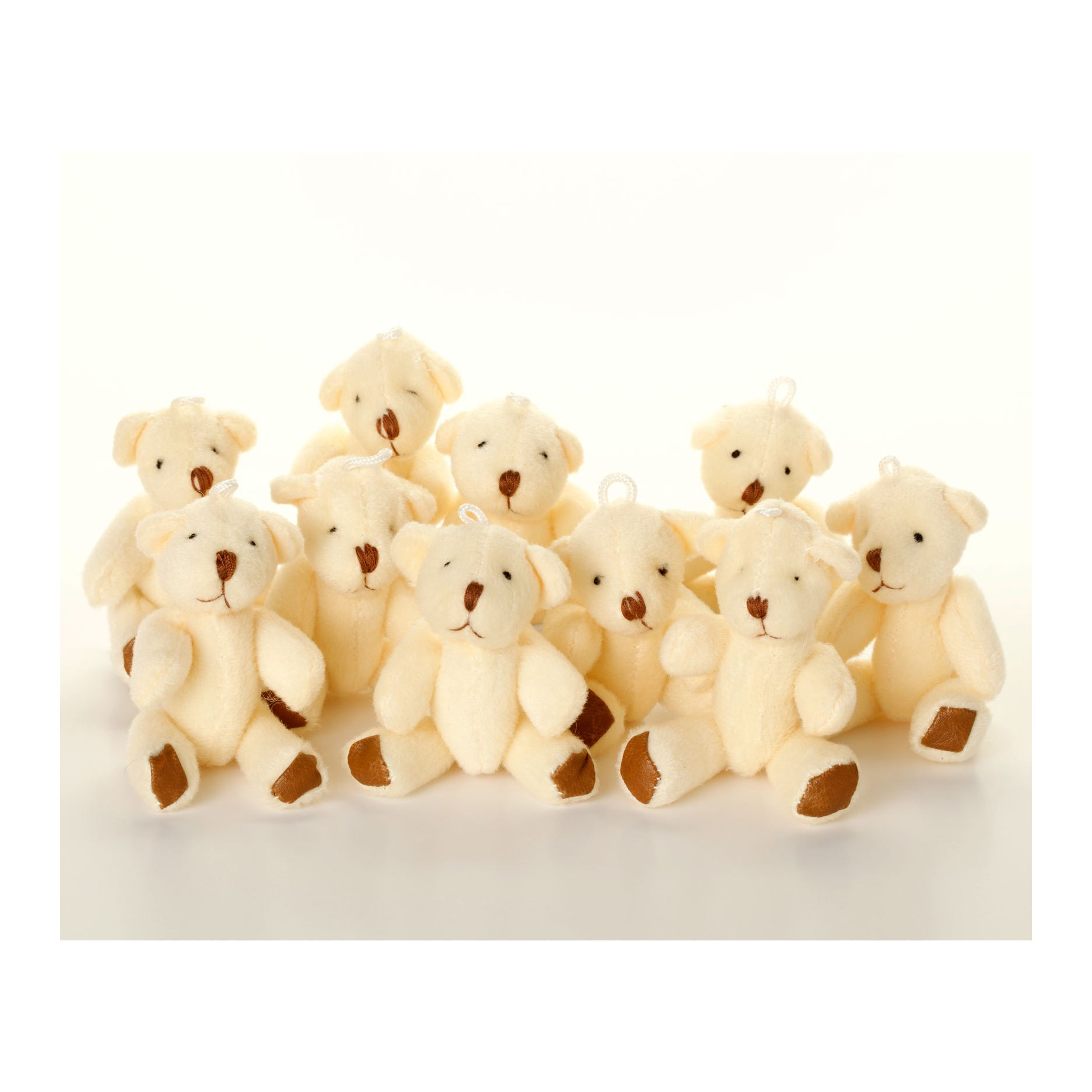 Small WHITE Teddy Bears X 35 - Cute Soft Adorable
