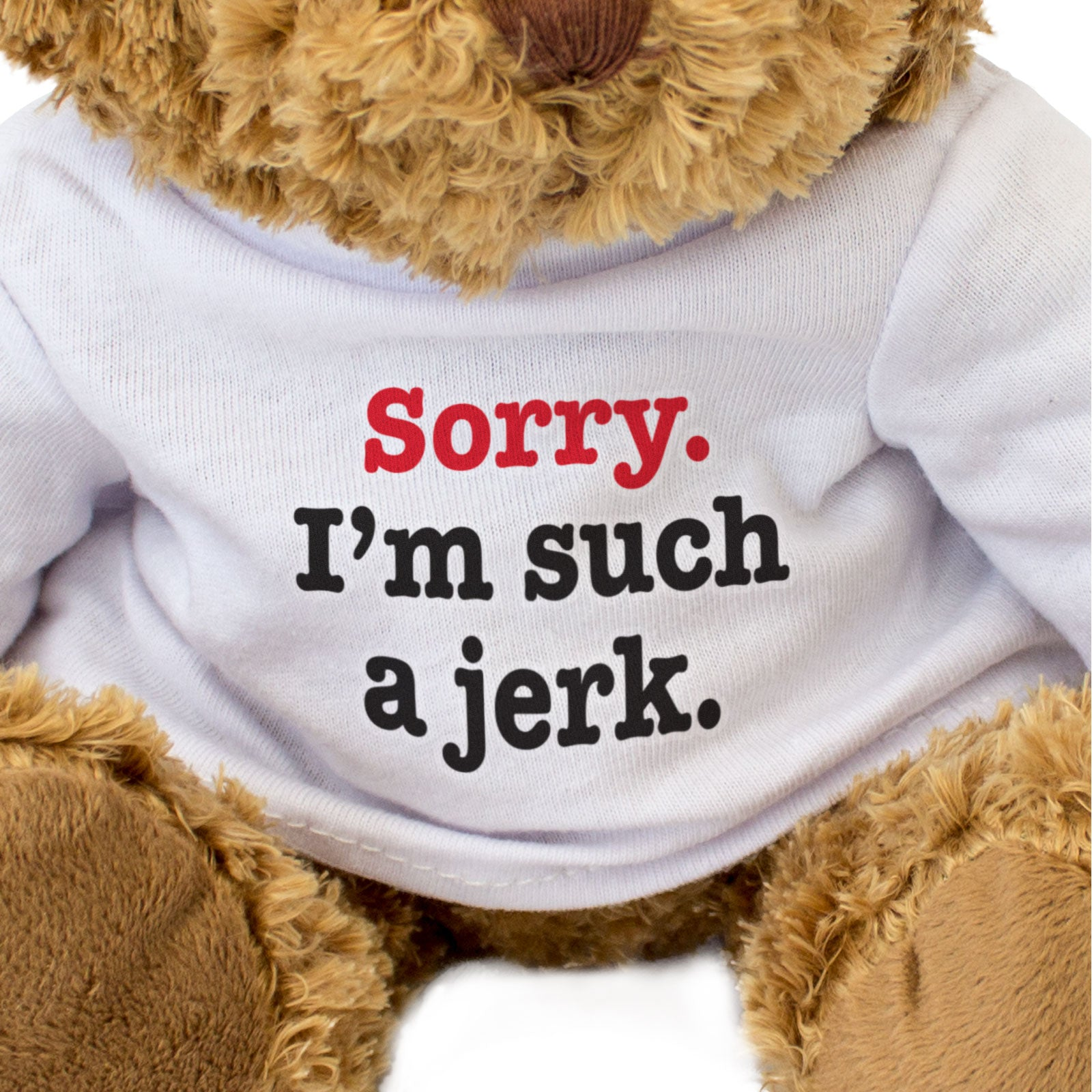 Sorry I'm Such A Jerk Teddy Bear Apology Gift