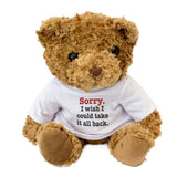 Sorry I Wish I Could Take It All Back Teddy Bear Apology Gift