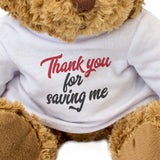Thank You for Saving Me Bear - Appreciation Gift