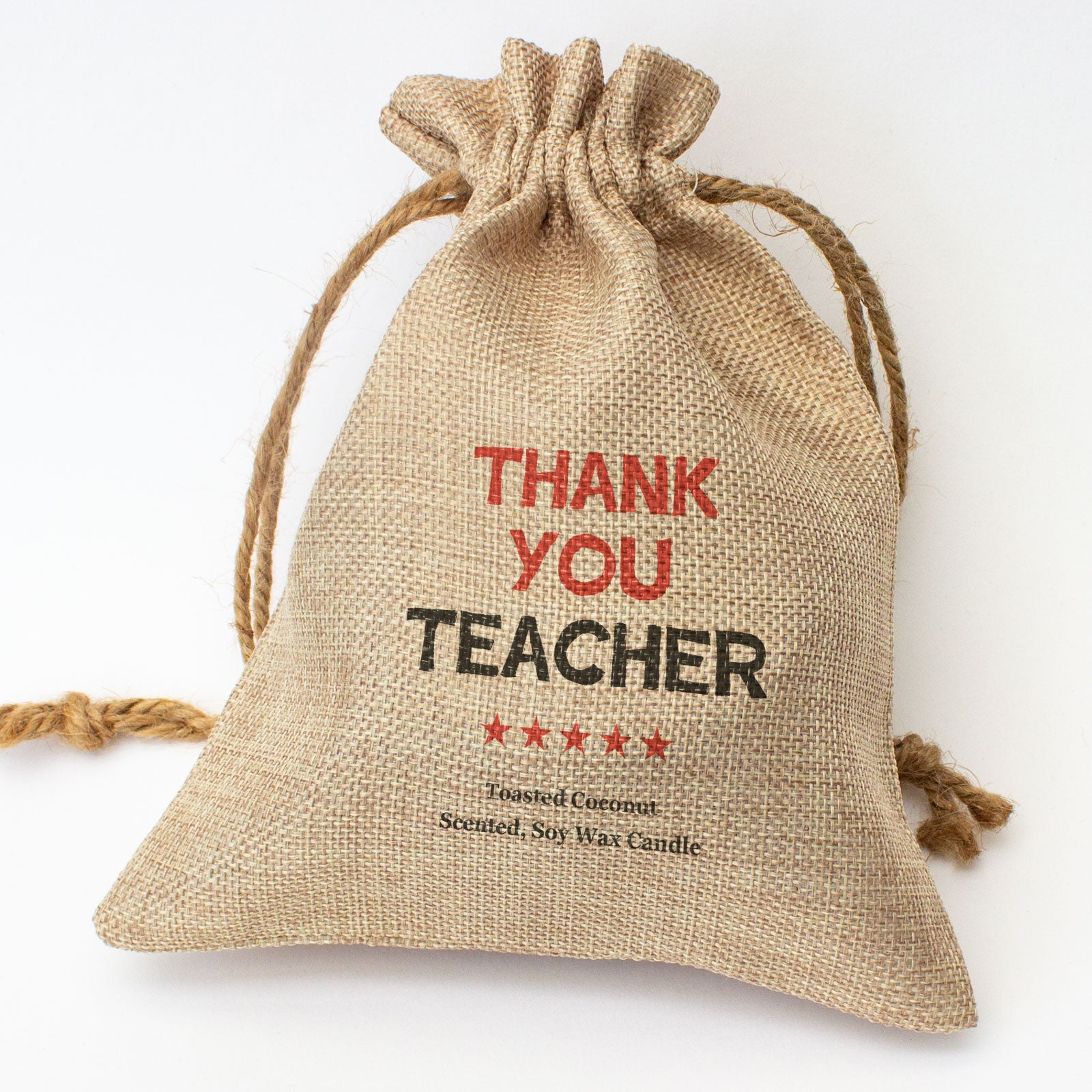 THANK YOU TEACHER - Toasted Coconut Bowl Candle – Soy Wax - Gift Present