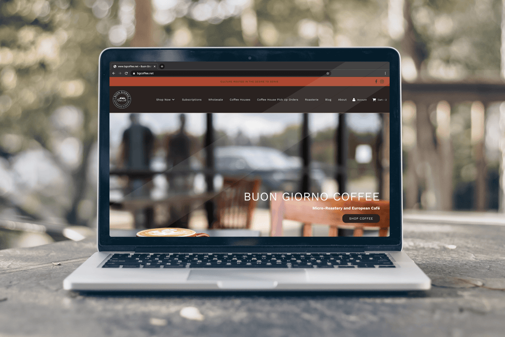 Shopify Store Design Breakdown: Buon Giorno Coffee Sells Coffee Online Through its Branded Storefront