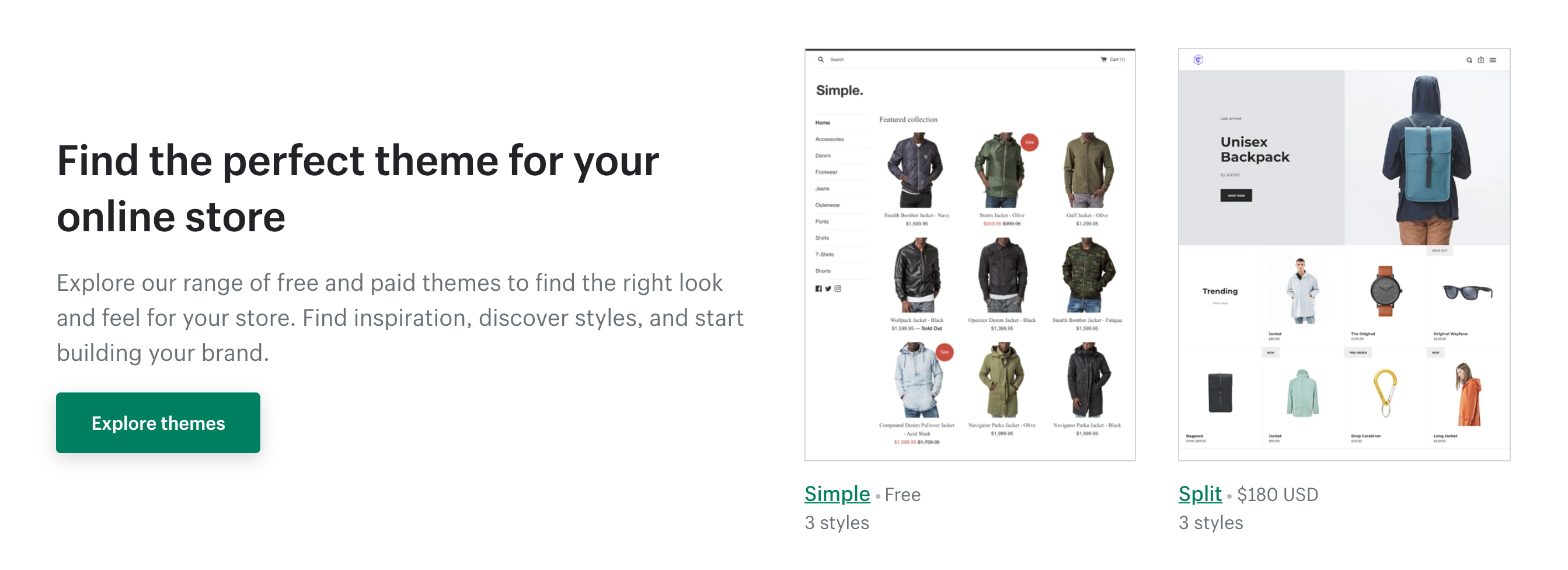 shopify themes to design your store