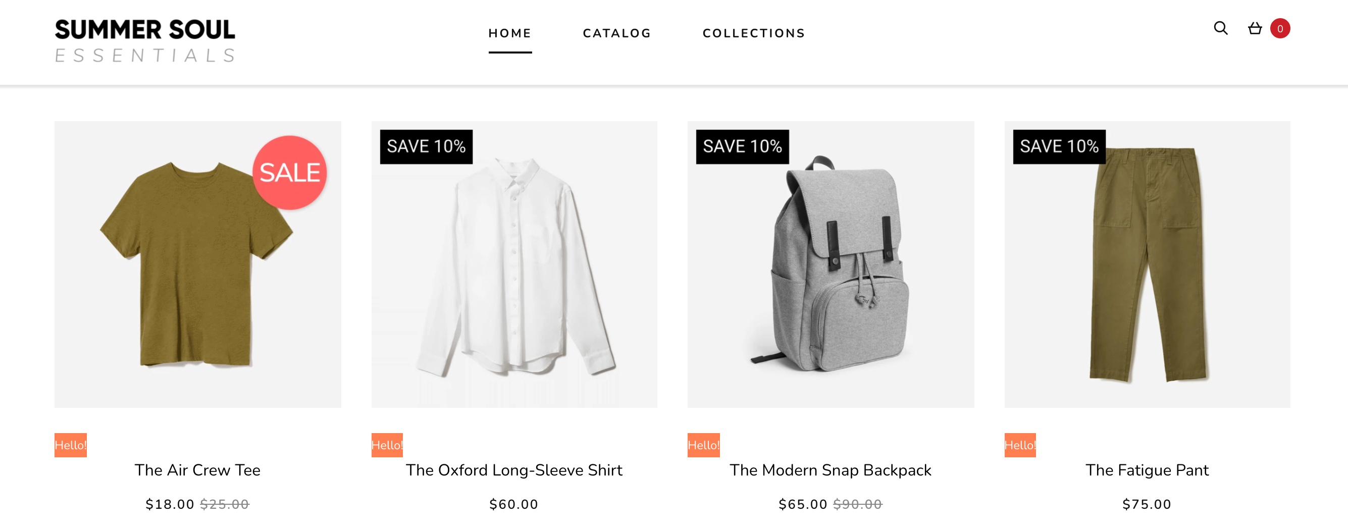 product labels - shopify store design tips