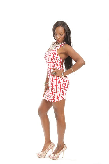 Squared Gamer Cut Out Sexy Party Mini Dress