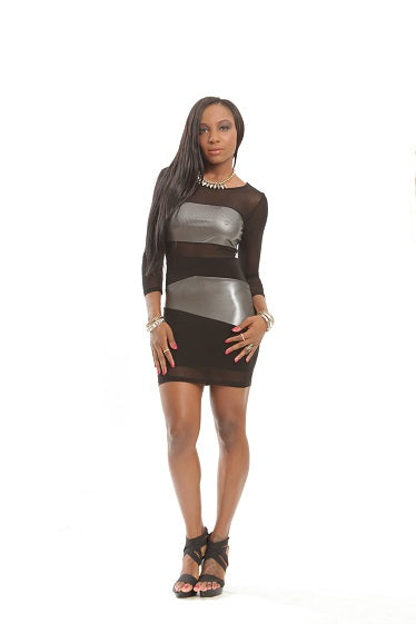 Galactic Black Mesh Sexy Party Dress
