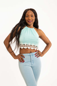 Mint Crop Top