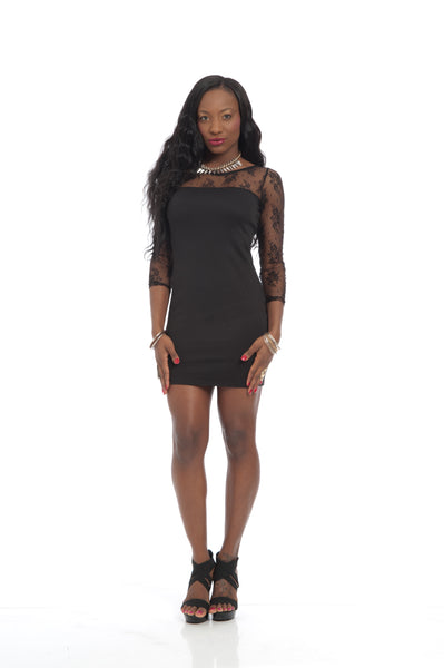 Black Lace Sexy Bodycon Party Dress