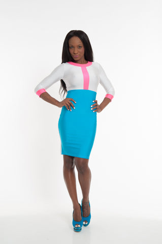 Color block Party Bodycon Mini Dress