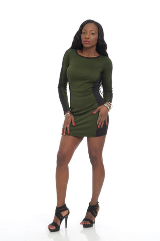 Olive Black Sexy Bodycon Party Mini Dress
