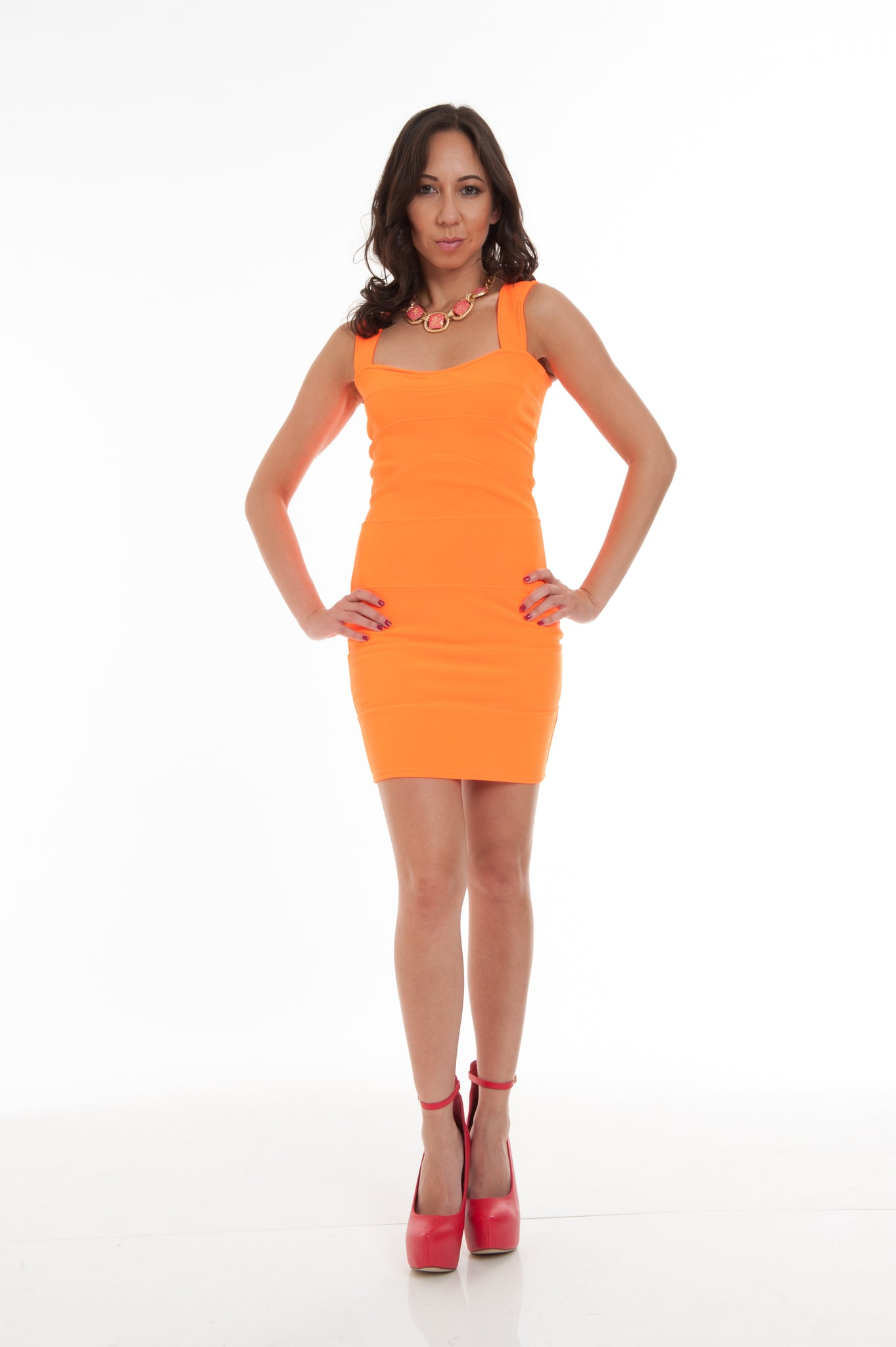 Bright Orange Dress