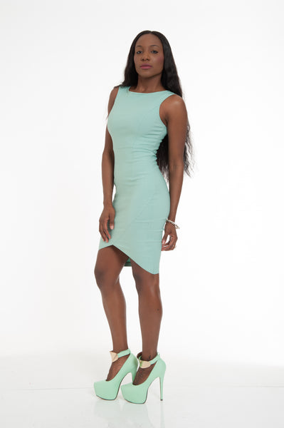 Pistachio Sexy Bodycon Mini Dress