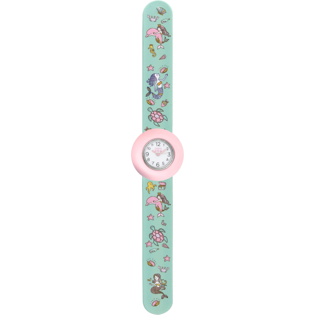 Mimbee - Teal / pink, Mermaid Slap Watch
