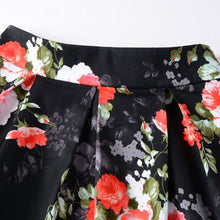 Load image into Gallery viewer, Classic Flower Printed Medium Length Swing Skirt