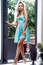 Load image into Gallery viewer, Front Satin Dress Mint