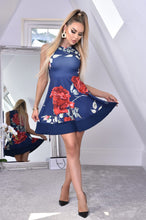Load image into Gallery viewer, Felicia Floral Skater Navy