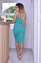 Load image into Gallery viewer, Plunge Wrap Dress Jade
