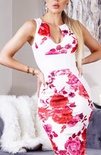 Load image into Gallery viewer, Floral Panel Dress Ivory