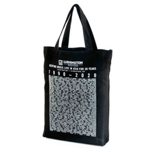 Load image into Gallery viewer, Lushington 30-Year Anniversary Tote Bag Monochrome Side View