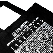 Load image into Gallery viewer, Lushington 30-Year Anniversary Tote Bag Monochrome Zoom