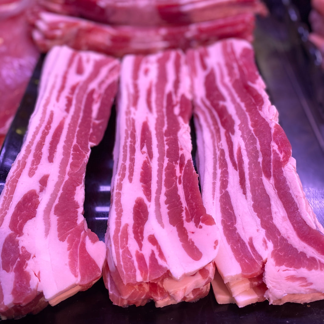 Dry-cured Streaky bacon