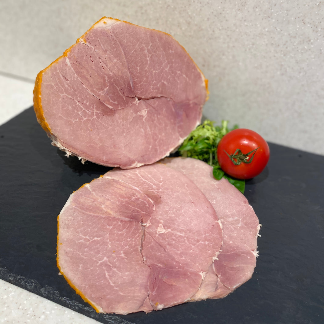 Home cured traditional ham slices