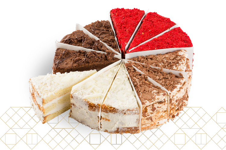 4 Cake Variety Pack: Mozart, Chocolate Nostalgia, Vanilla Dream, Red Velvet