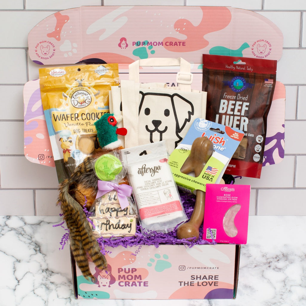 november pup mom crate packed with 7 items