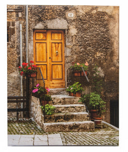 Scanno Italy - Doorway with Flowers Photo
