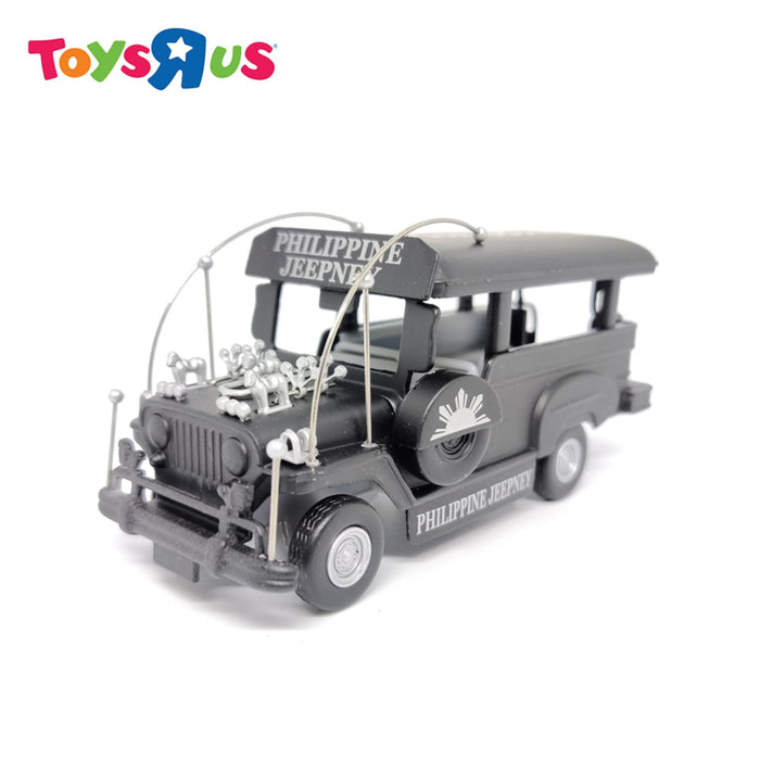 Philippine Jeepney 4 inch Die-cast Free Wheel Vehicle (Black)