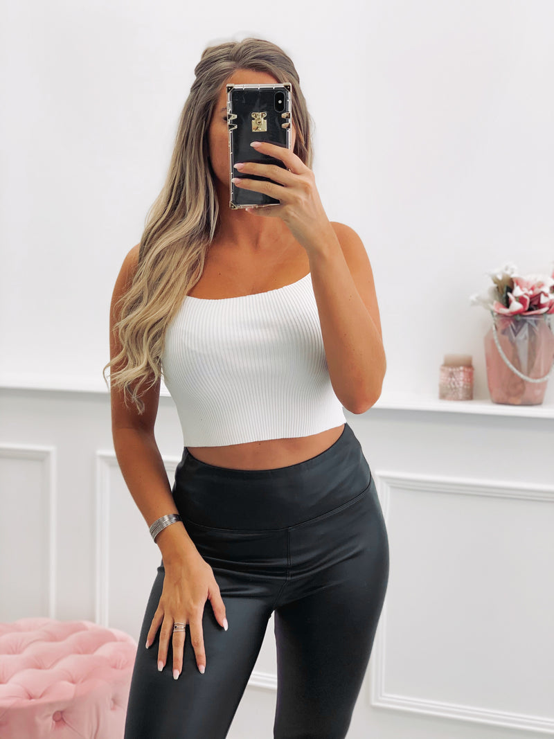Crop top ASSIA - BLANC