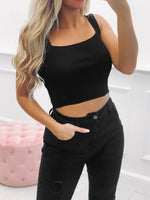 Crop top ASSIA - NOIR (5900438667418)